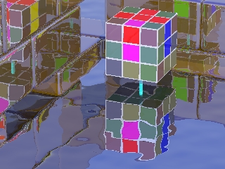a messed up rubik's cube