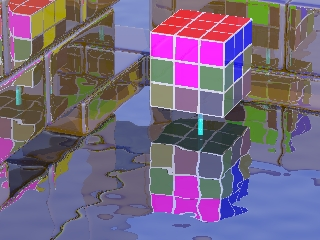 a rubik's cube with the first layer solved