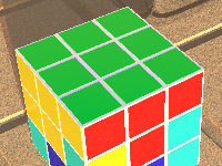 the top layer of a rubik's cube, all solved