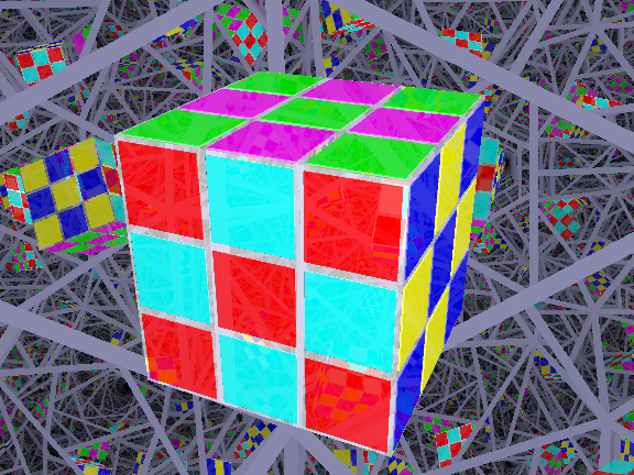 rubik's cube six X's, or checkerboard pattern
