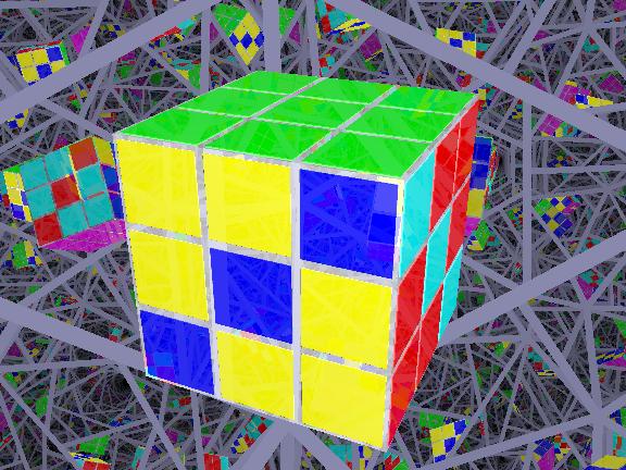 rubik's cube zig-zag pattern