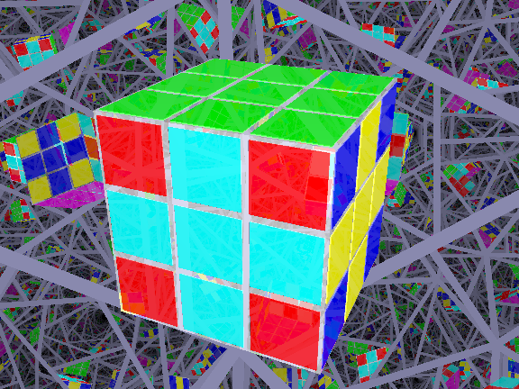 rubik's cube four cross pattern